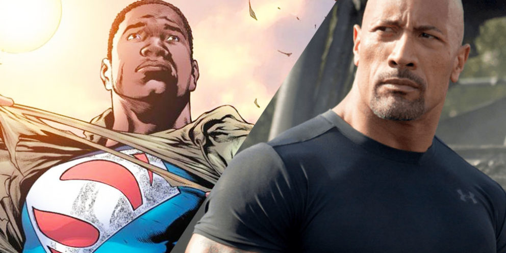 The Rock Black Superman