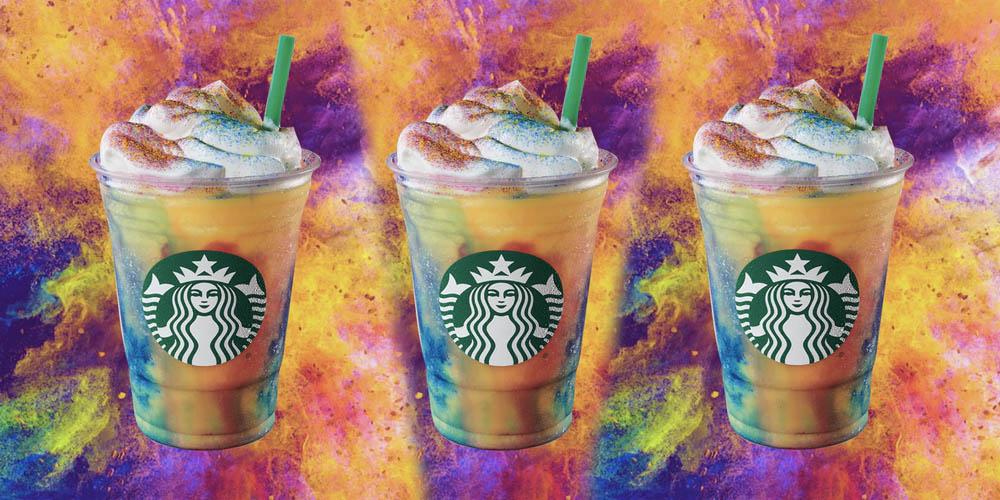 Starbucks Is Launching A Tie-Dye Rainbow Frap