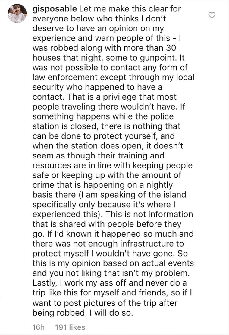 Gigi shared a lengthy statement explaining herself following the backlash.