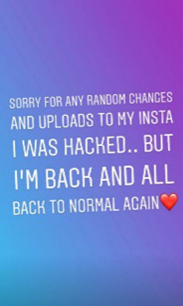 Curtis sharing an apology after he gained access back to his Instagram account.