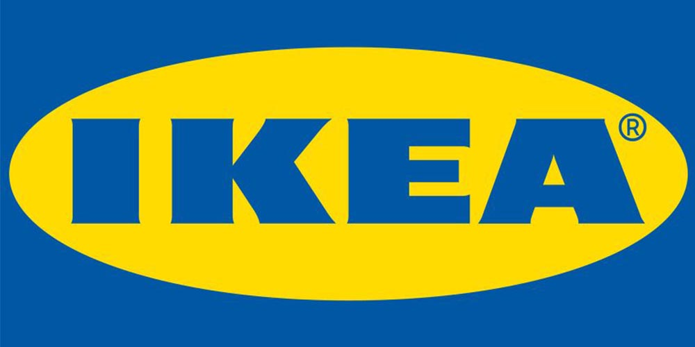 The logo of famous store, IKEA.