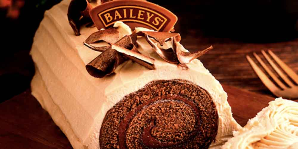 Baileys Chocolate Yule Log Looks Perfect For Festive Parties