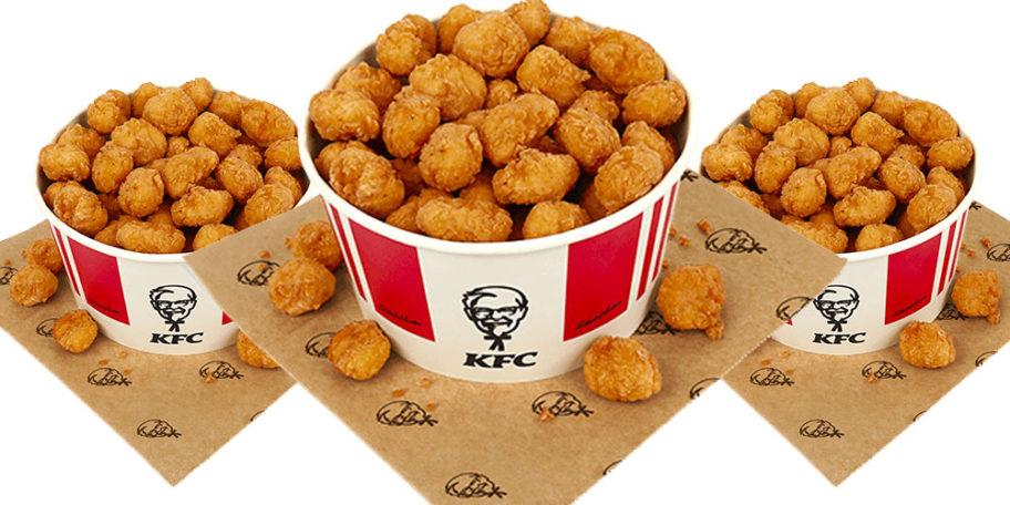 KFC Launches 80-Piece Popcorn Chicken Bucket For £5.99